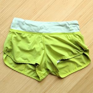 Lululemon Speed Short Clear Mint Striped Band 2